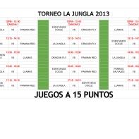 TORNEO LA JUNGLA 2013 CALENDARIO DE JUEGOS - Sheet1 (1)